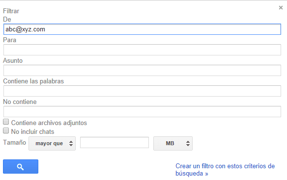 filtrar mensajes similares gmail