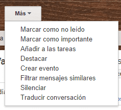 menu contextual correo gmail