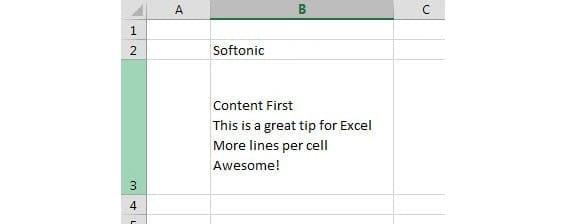 Cómo añadir varias líneas en una única celda de Excel