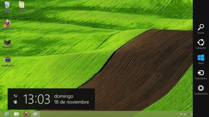 Cómo quitar la barra lateral de Windows 8.1