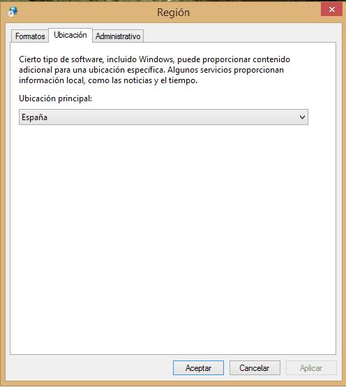 cambia los formatos de fecha, hora y número en Windows 8 d