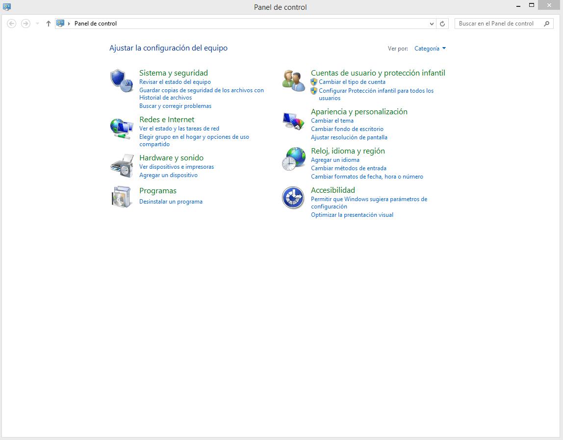 cambiar los formatos de fecha, hora y número en Windows 8 b