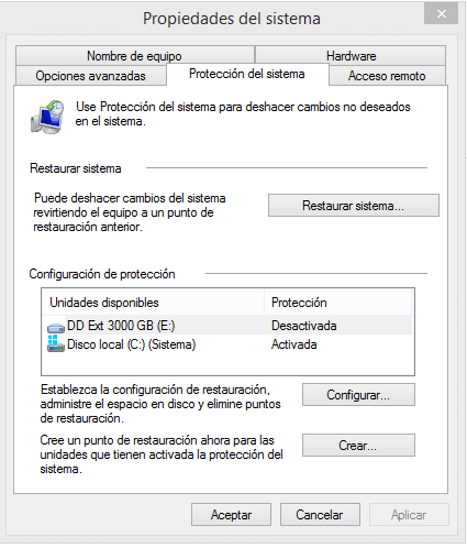 como restaurar Windows 8
