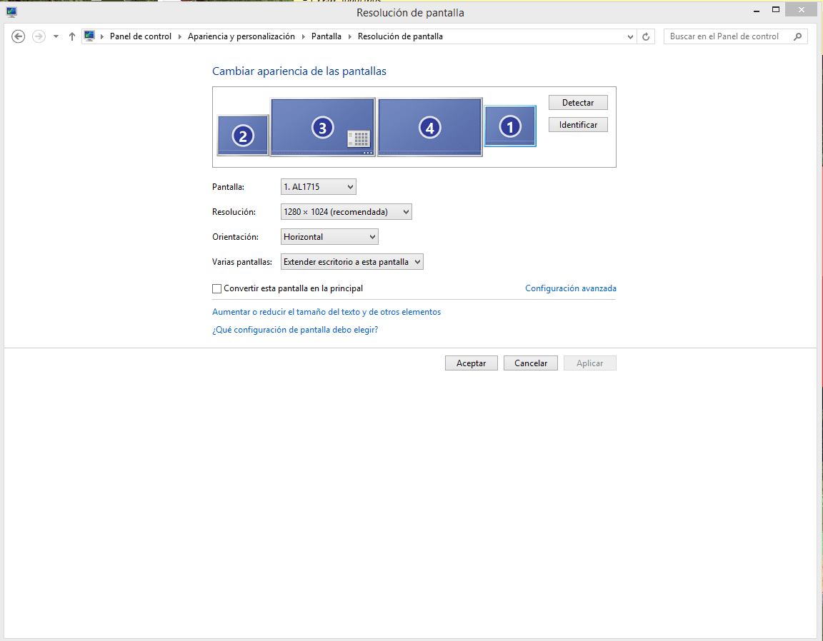 la configuración avanzada del monitoreo Windows 8