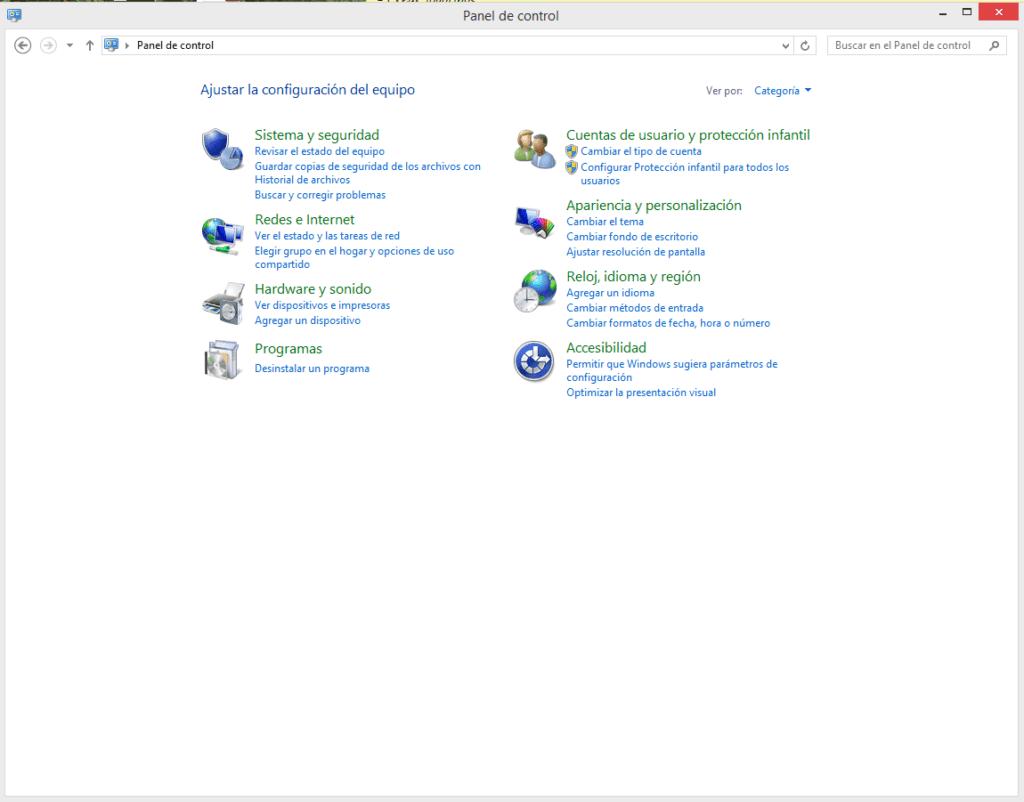 revisar el estado del equipo en Windows 8