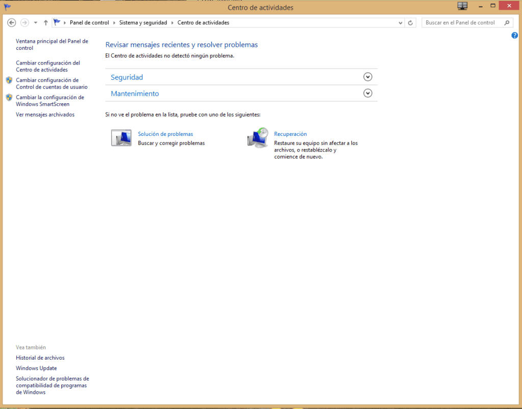 revisar el estado del equipo en Windows 8b
