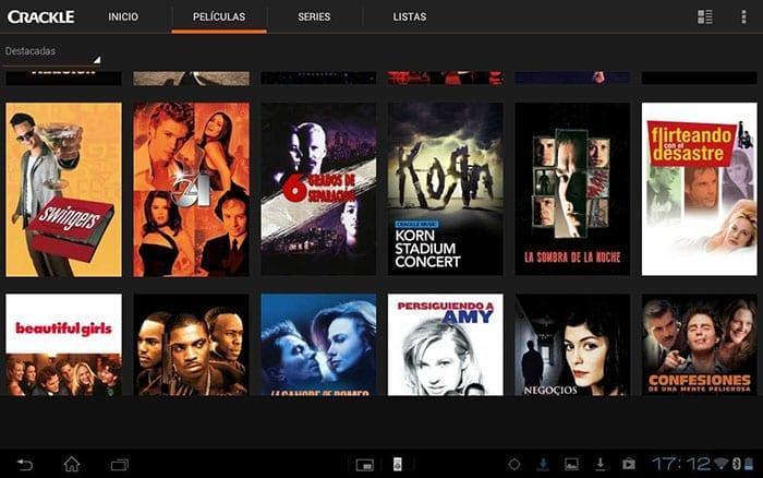 aplicaciones para ver películas