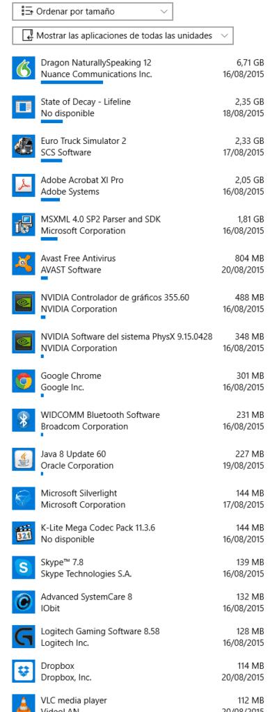 como agregar o quitar programas en Windows 10