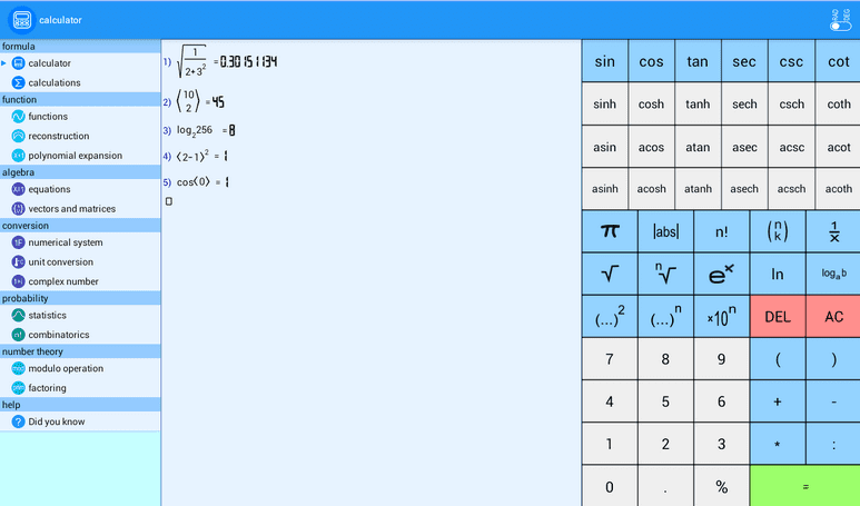 La mejor aplicación de matemáticas para Android b