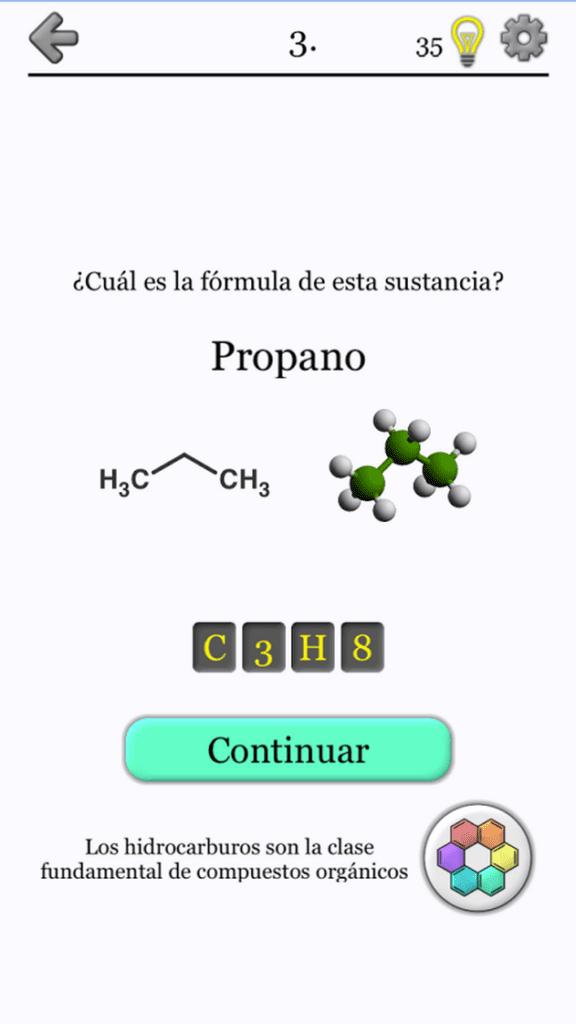 La mejor aplicación de sustancias químicas para Android b