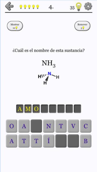 La mejor aplicación de sustancias químicas para Android