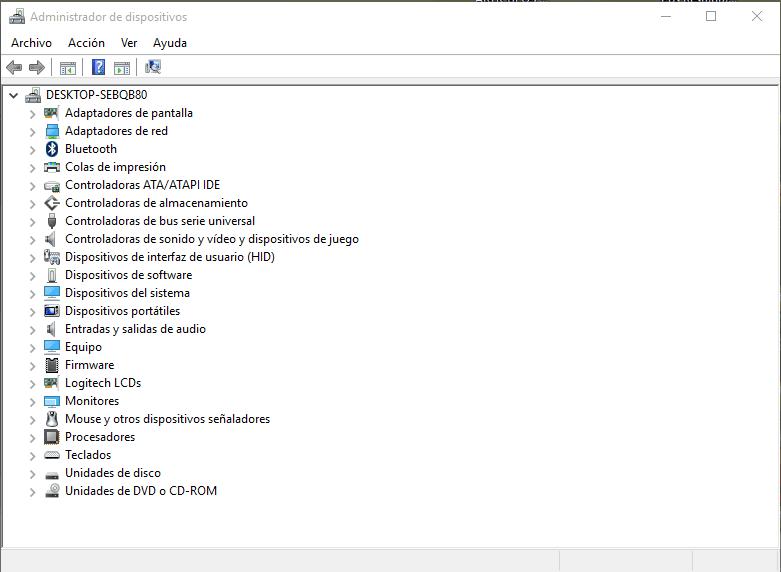 Dónde está el administrador de dispositivos de Windows 10