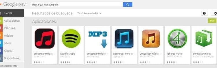 aplicaciones Android para descargar música