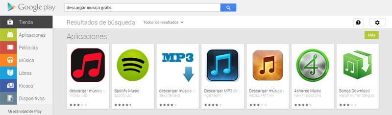 google play store descargar musica gratis