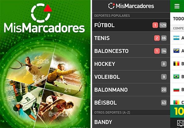 Mis Marcadores - App para eventos deportivos