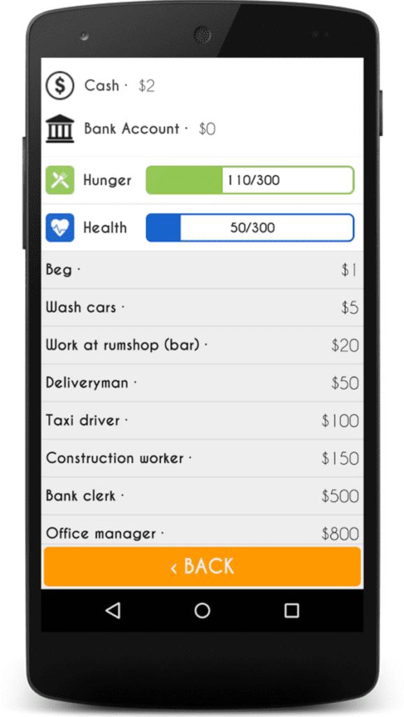 Homeless, un juego de estrategia original para Android b