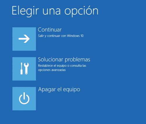Reiniciar Windows 10 en modo seguro