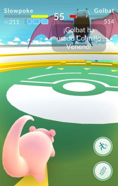 Batalla en Pokémon Go