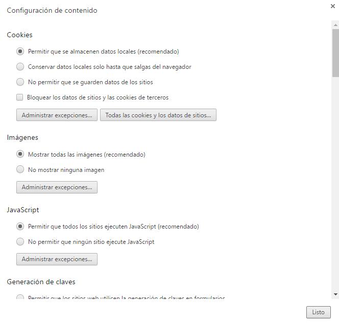 Bloquear contenido en Google Chrome