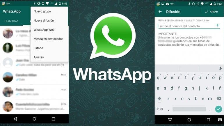 Escribir a varias personas en WhatsApp con listas de difusión