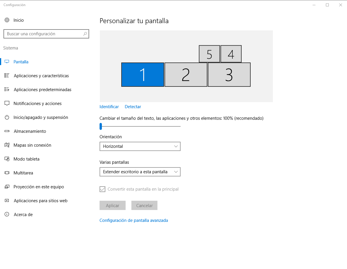 Monitores y televisión conectados a PC width=