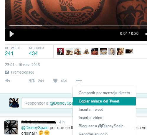 Descargando vídeos de Twitter