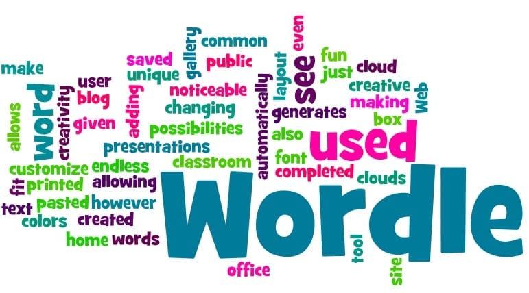 Grupo de palabras en infografía