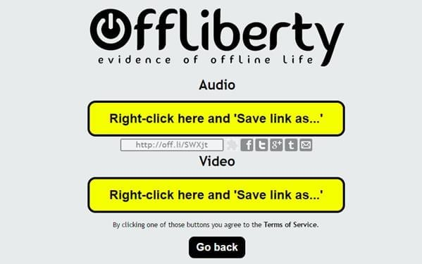 Descarga desde Offliberty de enlaces de YouTube