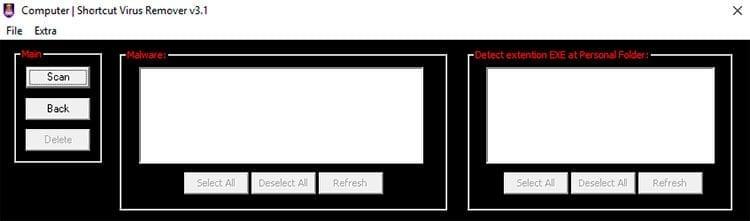 Shortcut Virus Remover para quitar el virus
