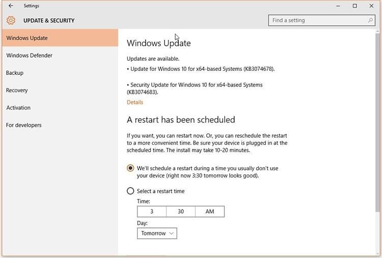 Error de actualización de Windows Update