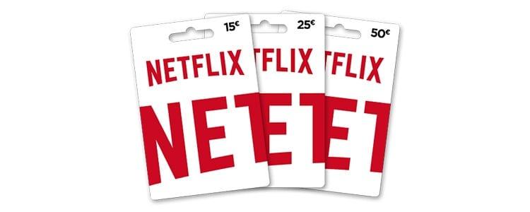 Tarjetas regalo Netflix