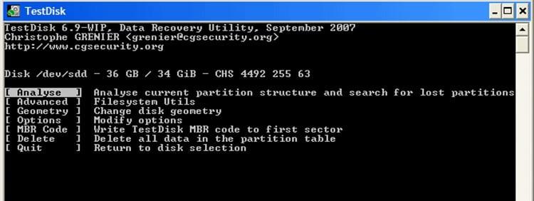 Cómo recuperar archivos borrados de un disco duro con TestDisk