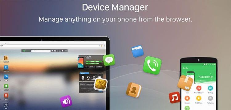AirDroid para conectar el móvil con tu PC