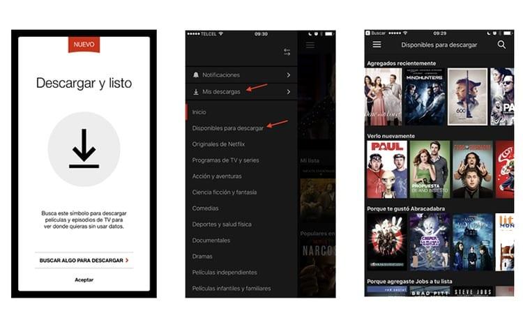Descargar películas de Netflix