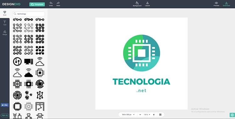 Diseña logos online con DesignEvo