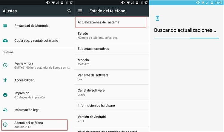 Actualizar Android Oreo