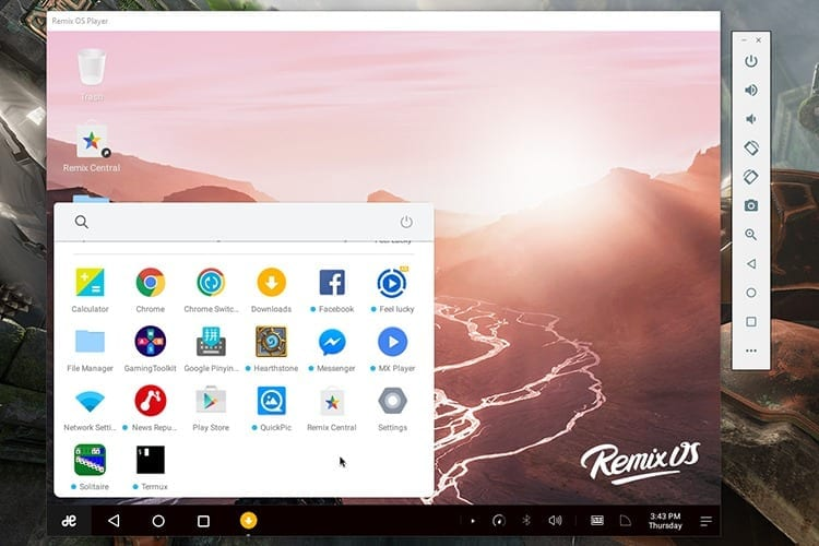 RemixOS Player emulador de Android