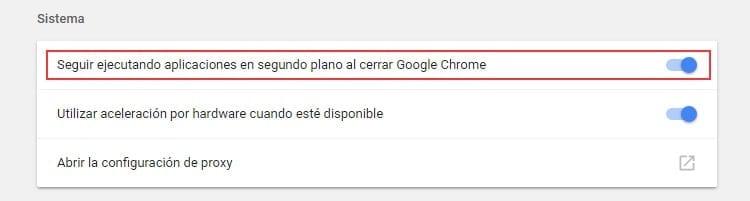 Evitar que Chrome se ejecute en segundo plano
