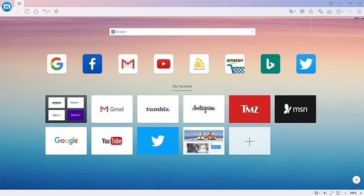 Navegador Maxthon Cloud Browser