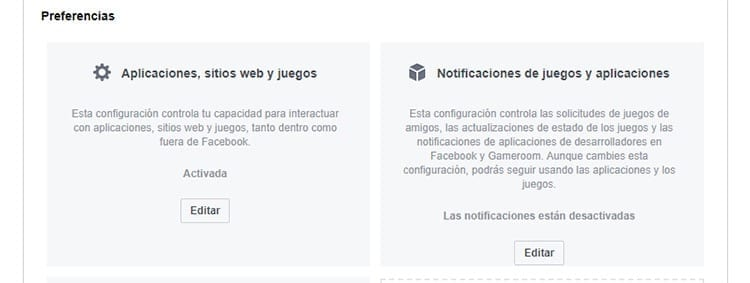 Cancelar acceso apps terceros Facebook