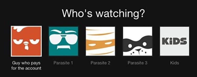 Administrar cuentas de Netflix