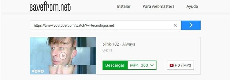 Convertidor de videos YouTube