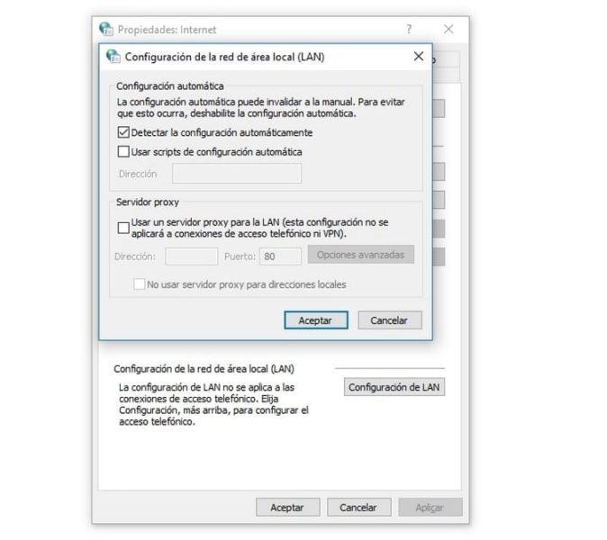 Actualiza la configuración LAN