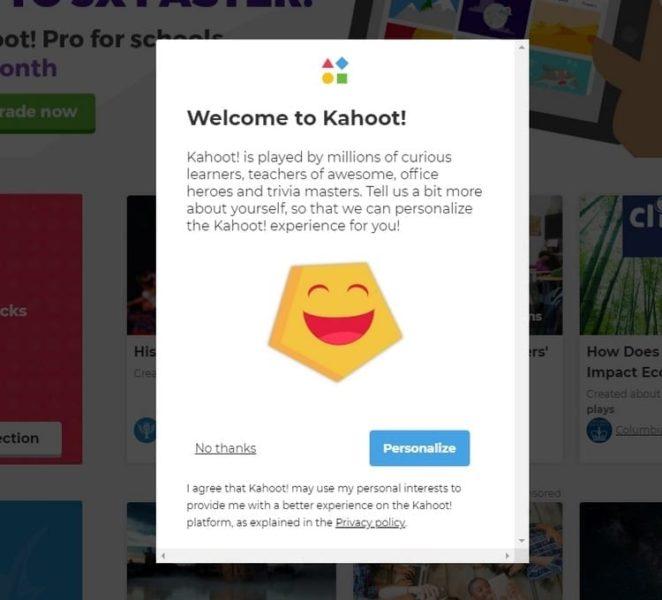 Bienvenido a kahoot