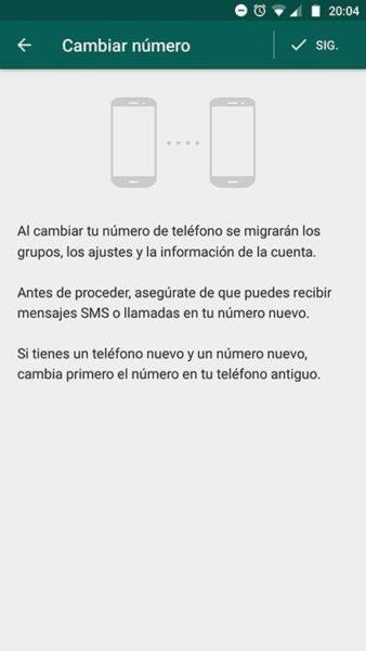 Cómo cambiar tu número de teléfono en WhatsApp