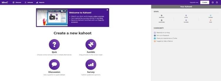 crear un cuestionario en kahoot