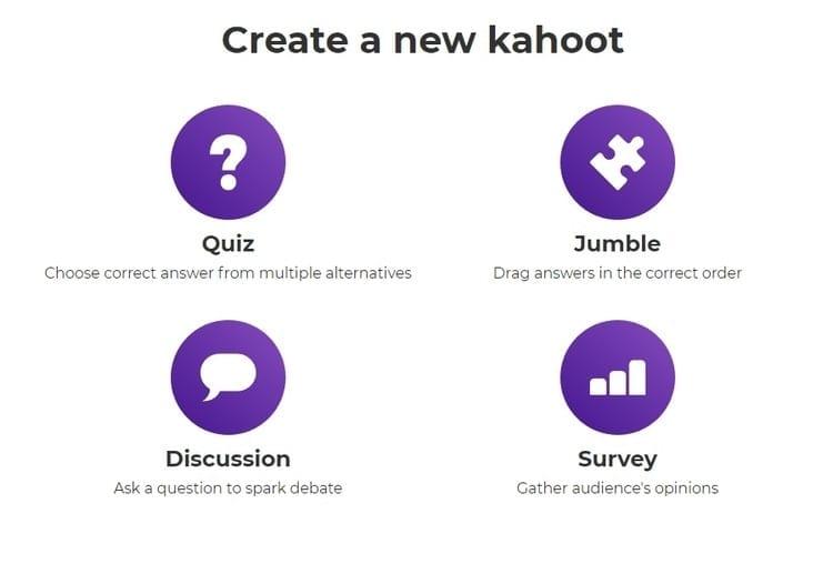 Crear un nuevo kahoot
