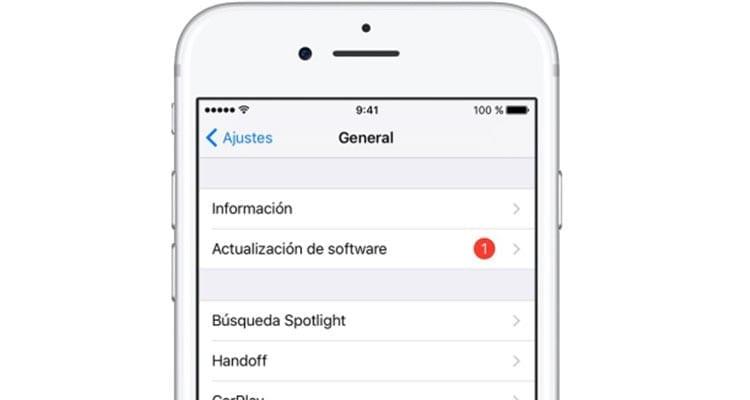 Descargar actualizacion iOS 12