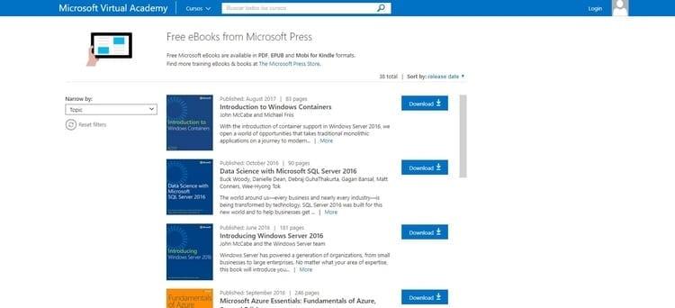Free Microsoft E-Books