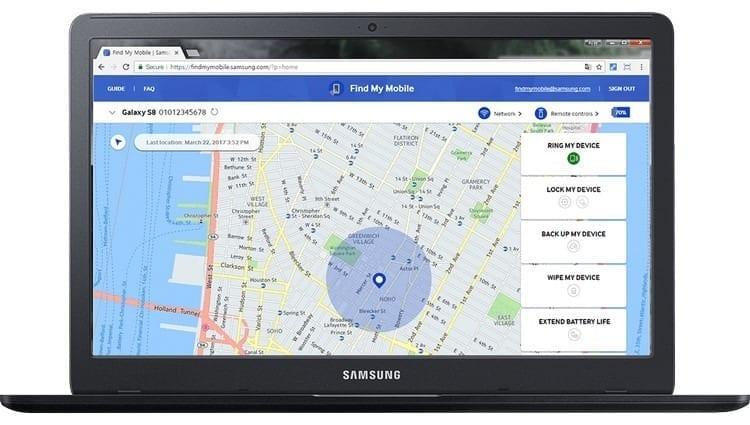 Cómo rastrear un celular Samsung con Find My Mobile